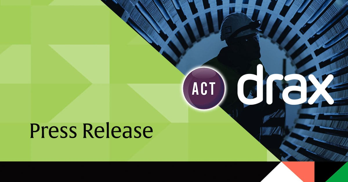 Drax Treasury Team Wins ACT Award Using ICD Portal for Cash Investments