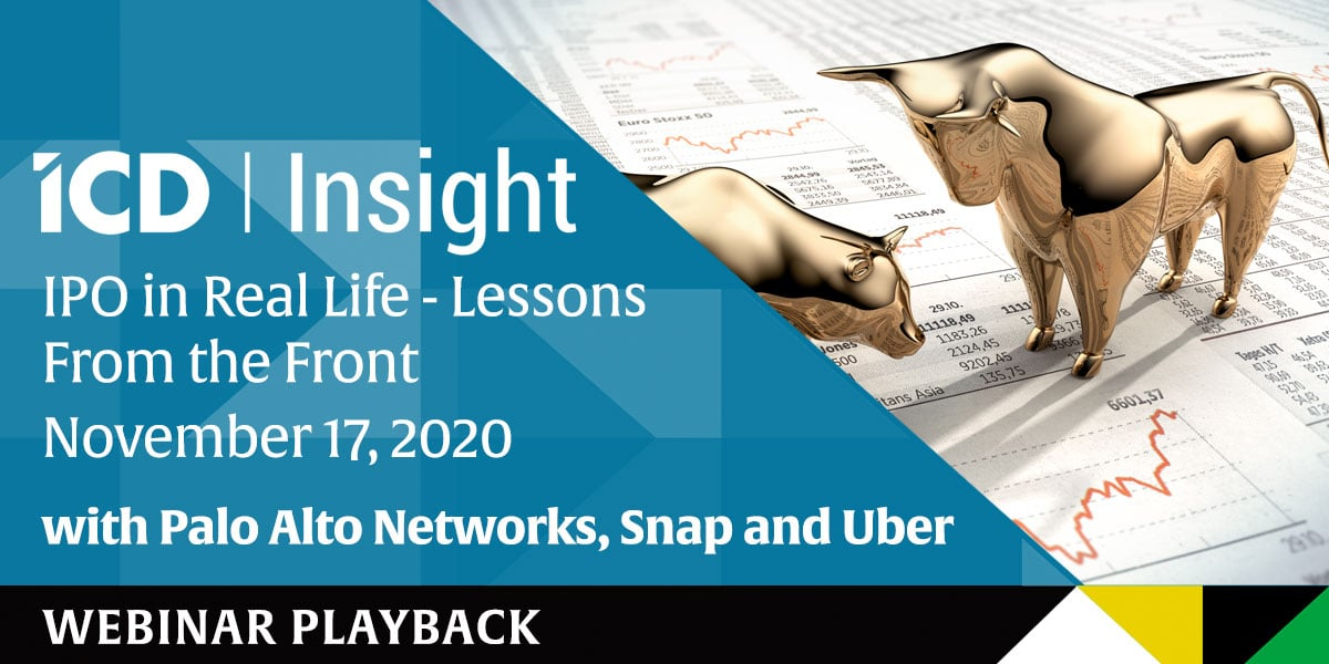ICD Insight: IPO in Real Life – Lessons From the Front – Playback